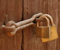 closed-locked-shut-padlock-door
