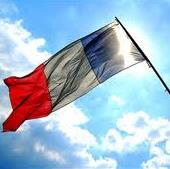 France French Flag sun