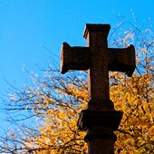 cross grave funeral