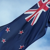 New Zealand flag close up