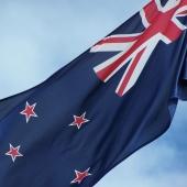 New Zealand flag close up