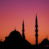turkey istanbul sunset mosque islam muslim