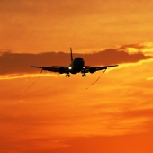 plane aeroplane aviation sunset_sq