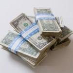 dollar pile stack money capital cash