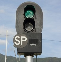 transport railway green light
