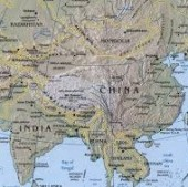 china and india map