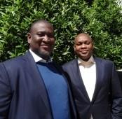 Akitoye Akindele (L) and Ayodele Arogbo (R) 2